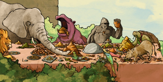 Animals-eating